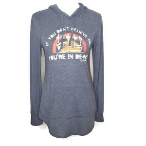 Disney Parks Jungle Cruise Pullover Hooded Tee S